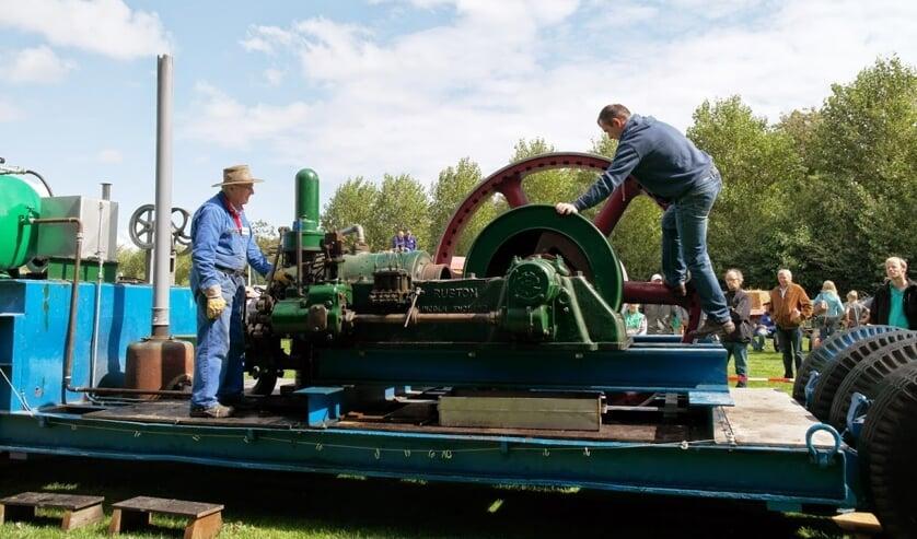 Opstarten een cylinder Ruston diesel