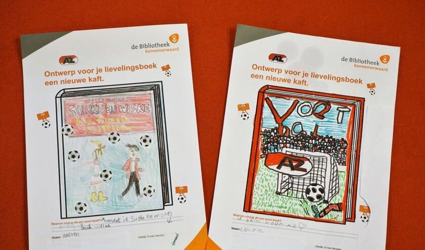 De winnende ontwerpen van Reaven (l) en Lara.