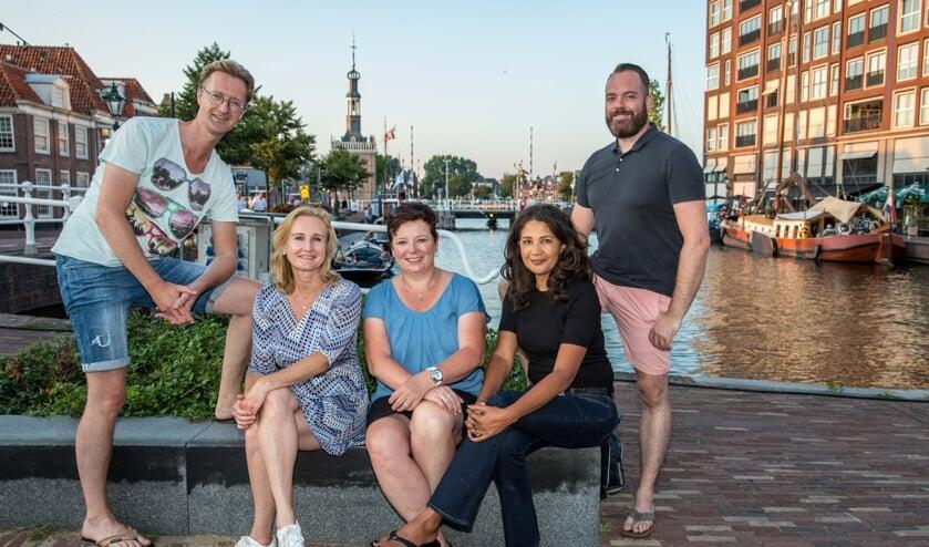 Martijn Wokke, Petra Buwalda, Ellen Hermans en  Jorick van Gemert van Lions Club Alkmaar.