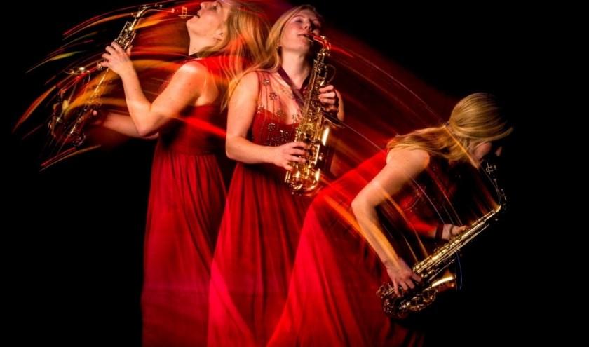 Jos Maters en saxofoniste Marlon Valk vormen het ´Duo Calyptura'.