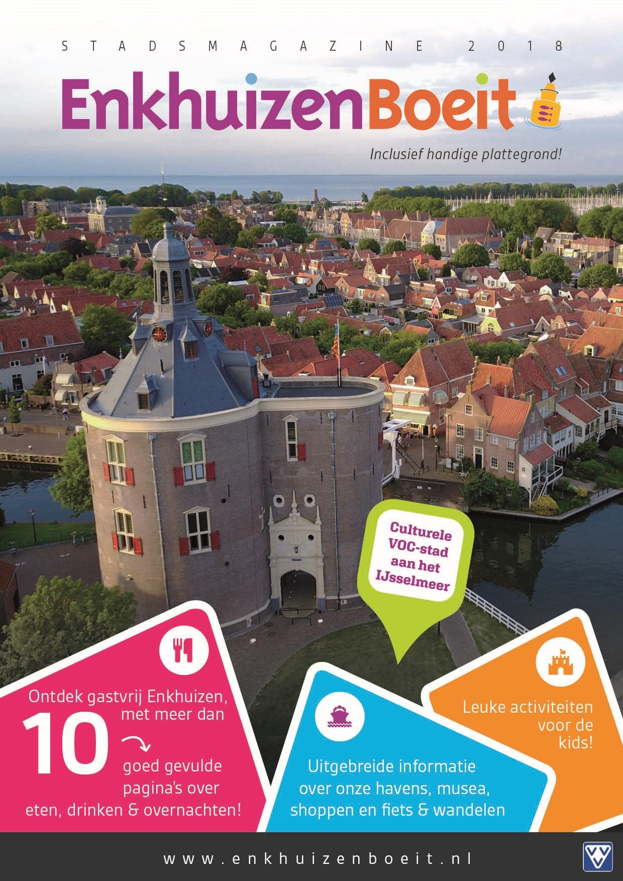 De cover van Enkhuizen Boeit 2018. (Foto: aangeleverd)