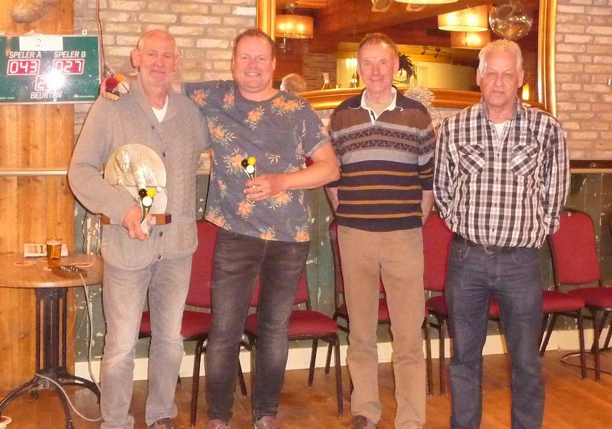De finalisten van vorig jaar met v.l.n.r. Adrie Glas, Jurgen Wagenaar, Niek de Waard en Klaas Wiersma. (Foto: aangeleverd)