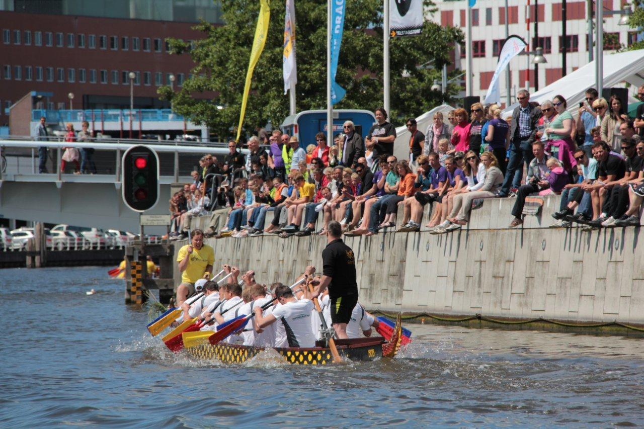 Racen over het Noordhollands Kanaal. (Foto: aangeleverd)
