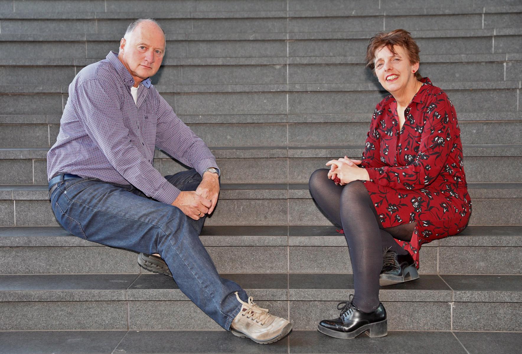 Jack en Astrid hopen dat lotgenoten steun bij elkaar vinden. (foto Vincent de Vries/ Rodi Media)