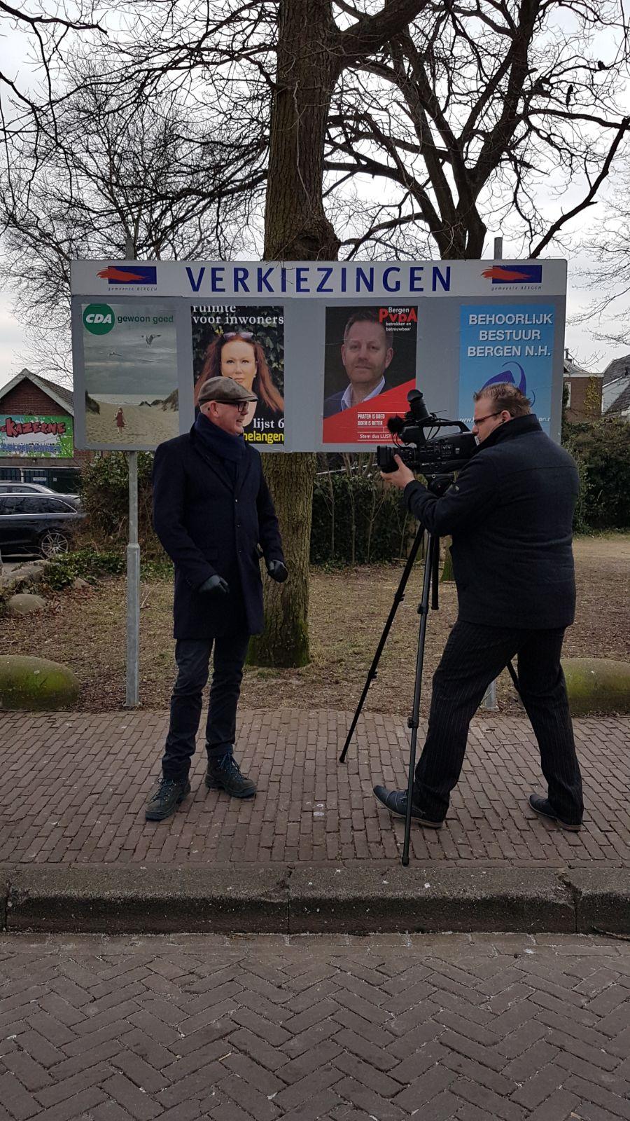 Presentator Ruud Bredewold en cameraman Nils Blom. (Foto: aangeleverd)