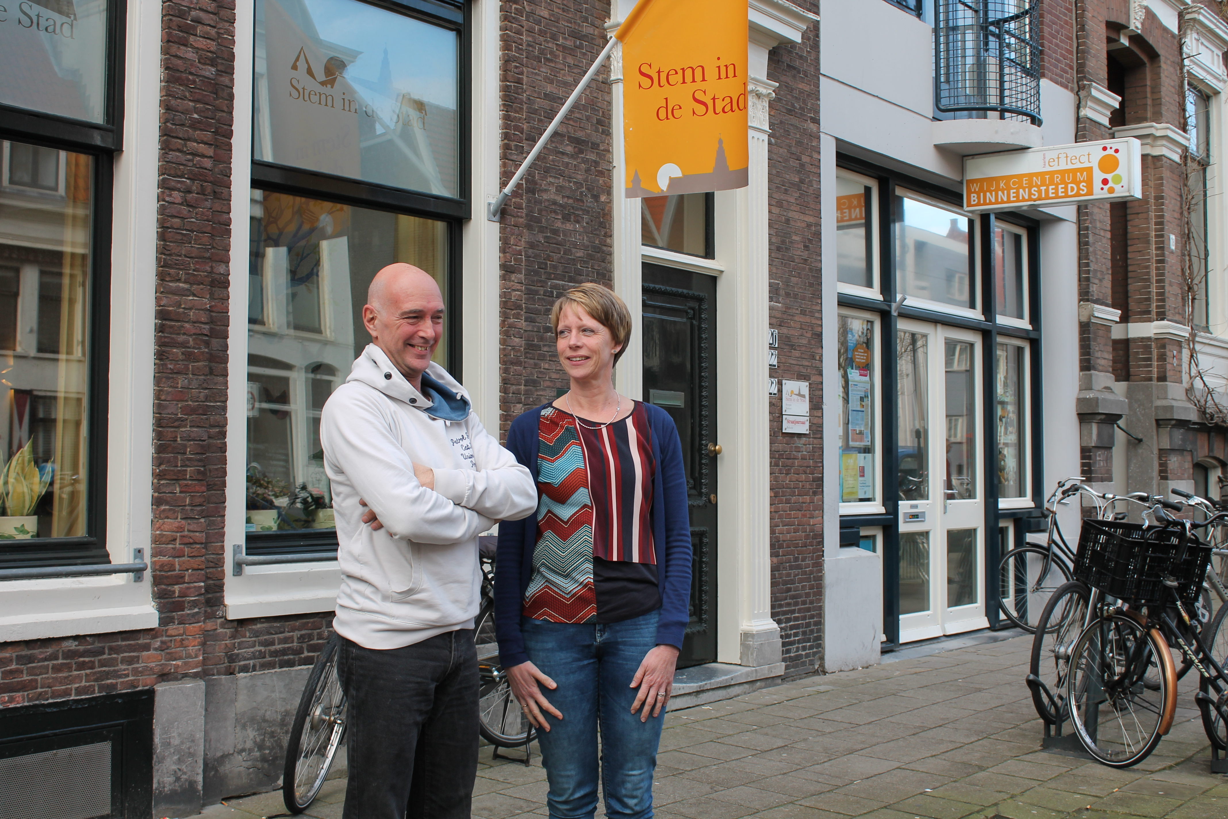Ronald vond toen hij dakloos was steun bij Jody van der Velde van Stem in de Stad. (Foto: Rodi Media)