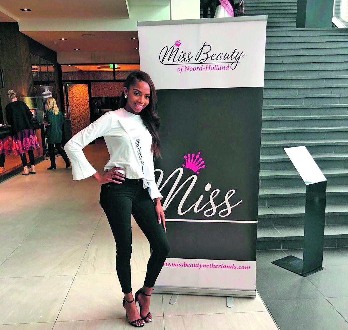 Het 20-jarige model is een van de deelneemsters aan Miss Beauty of Noord-Holland 2018 in de Purmaryn. (Foto: aangeleverd)