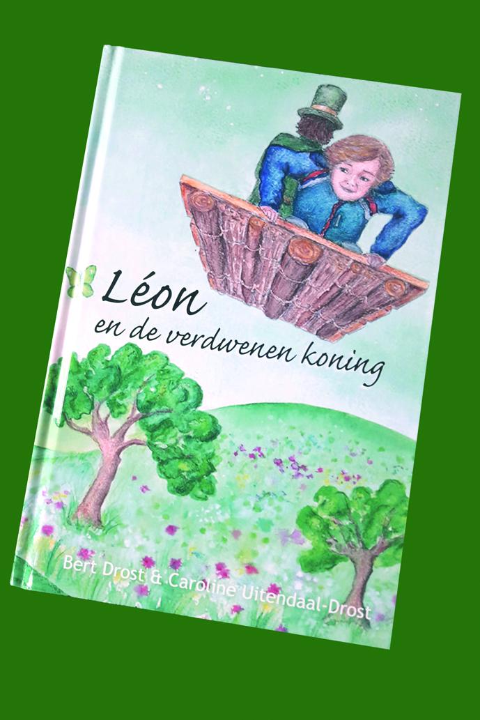 Bert Drost en dochter Caroline komen op zondag 22 april naar Egmond aan Zee waar zij bij boekhandel Dekker & Dekker het boekje 'Leon en de verdwenen koning' gaan voorlezen. (Foto's: aangeleverd)