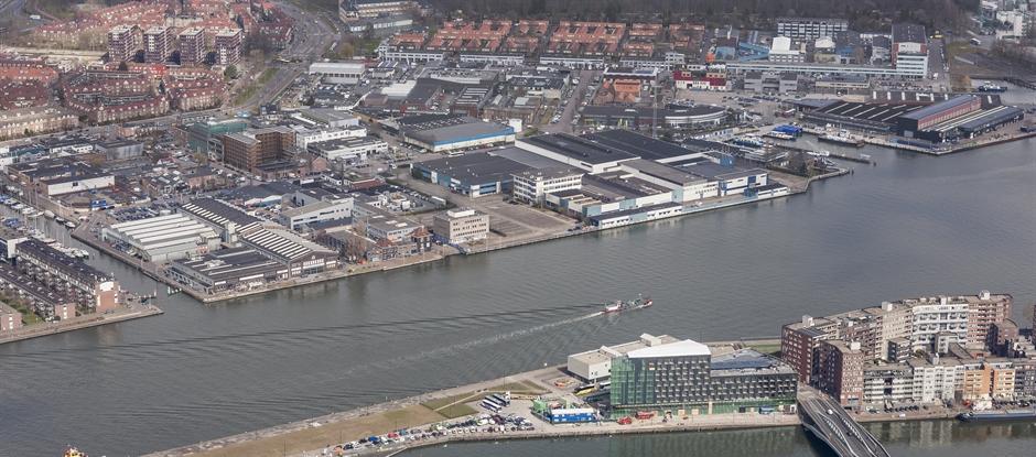Er komt een brug tussen de kop van het Java-eiland en het Hamerkwartier in Amsterdam-Noord. (Foto: gemeente Amsterdam)