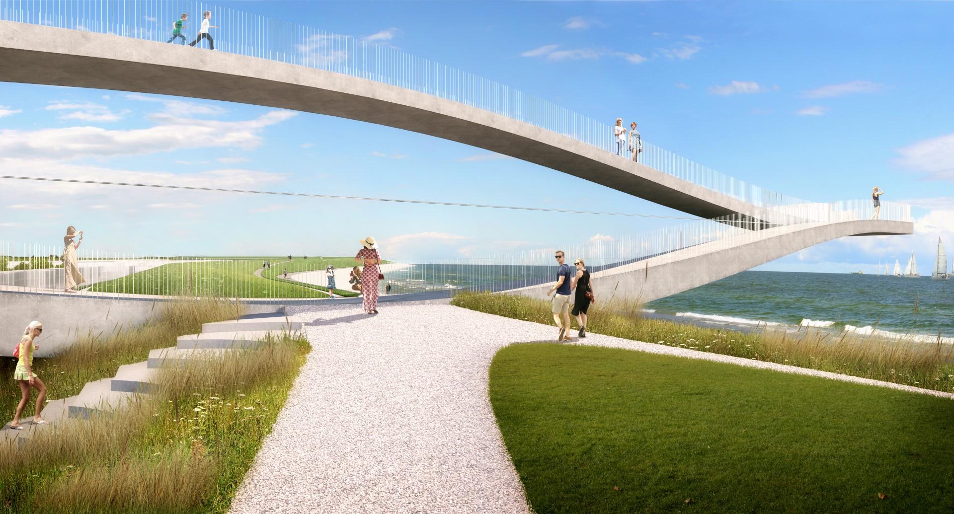 Wellicht kijkt men in de toekomst via dit icoon uit over het Marsdiep en Den Helder. (Foto: Bureau MVRDV)