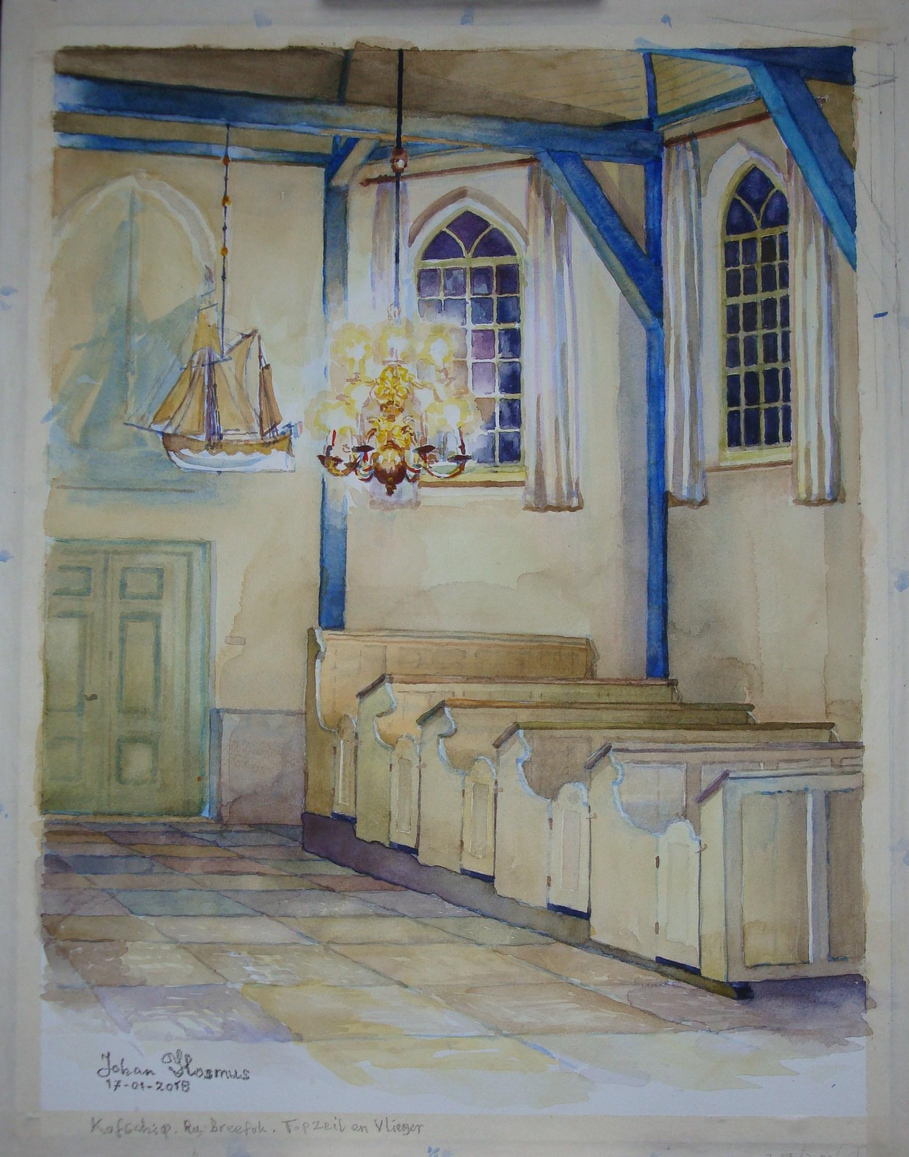 Dit werk en nog veel meer is te zien op de clubexpositie van de Teken- en Schilderclub Barsingerhorn in Kolhorn. (Foto: aangeleverd)