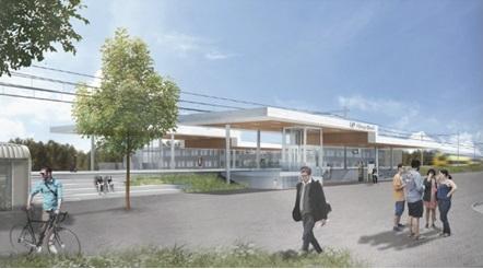 Zo ziet het vernieuwde station Noord er in 2021 uit. (Impressie: architect VenhoevenCS)