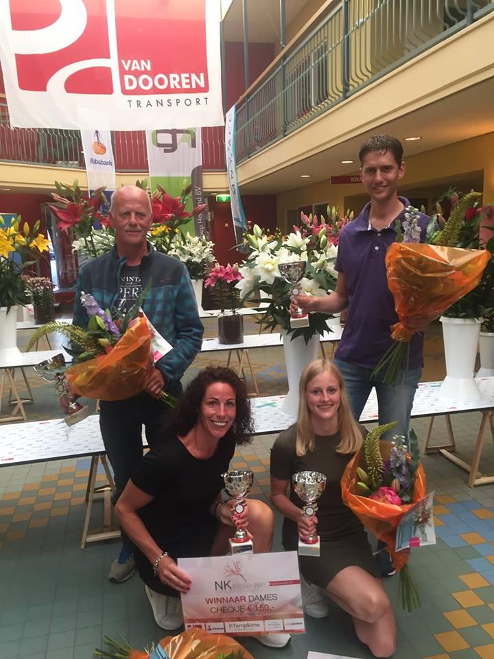 Winnaars van 2017: Senioren: Piet van Woesik, Topklasse: Jeffrey van Woesik, junioren: Kiki Veldman, dames: Finnula vd Berg. (Foto: aangeleverd)