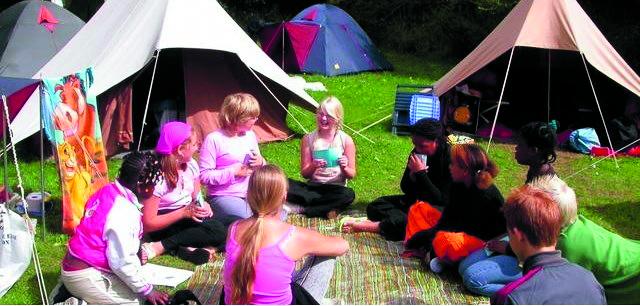 Het kindervakantiekamp in de duinen van Heemskerk. (foto aangeleverd)