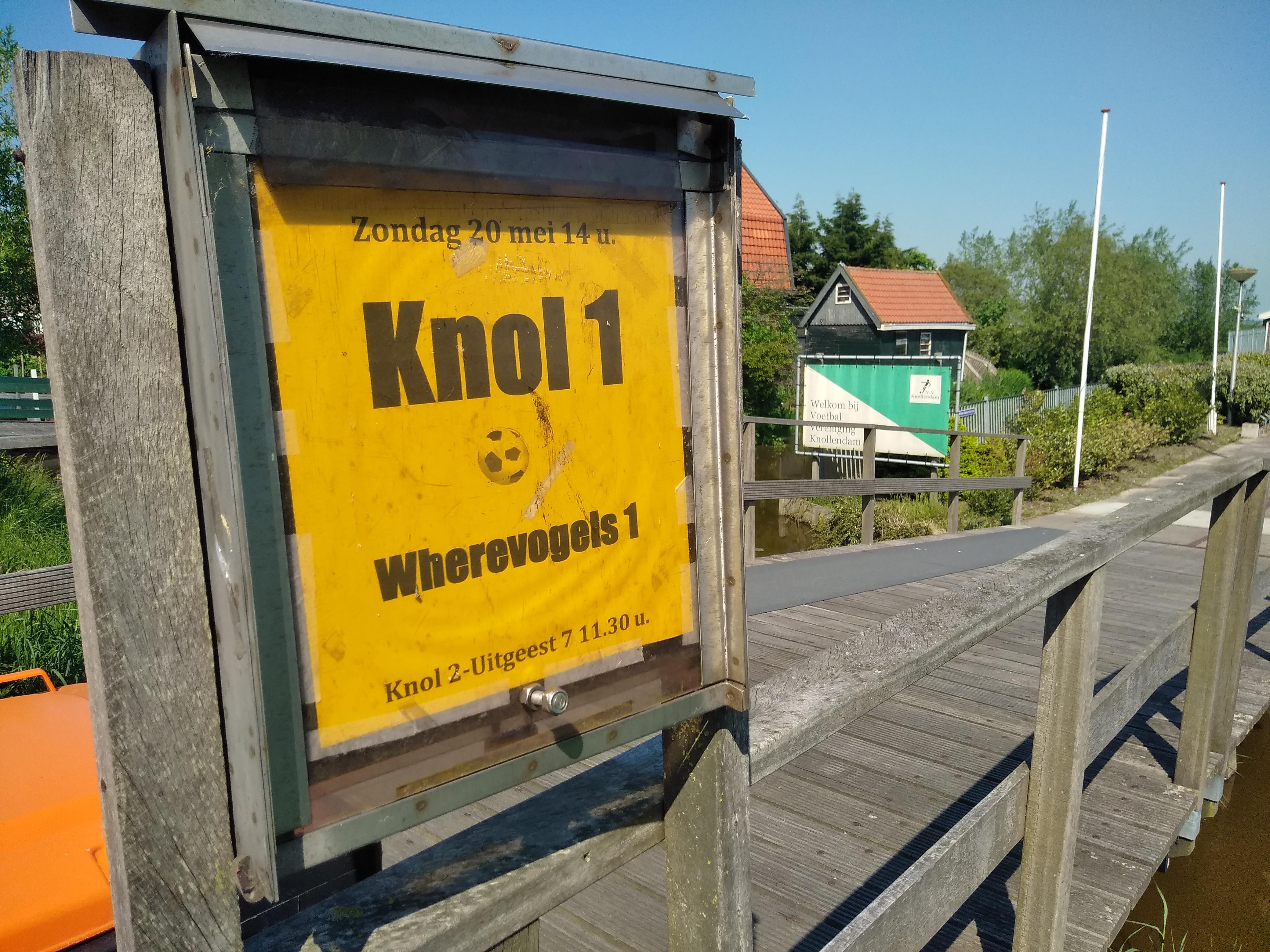 Eerst moeten de Knollendammers nog wel thuis zien te winnen van Wherevogels 1. (Foto: Bart van der Laan)