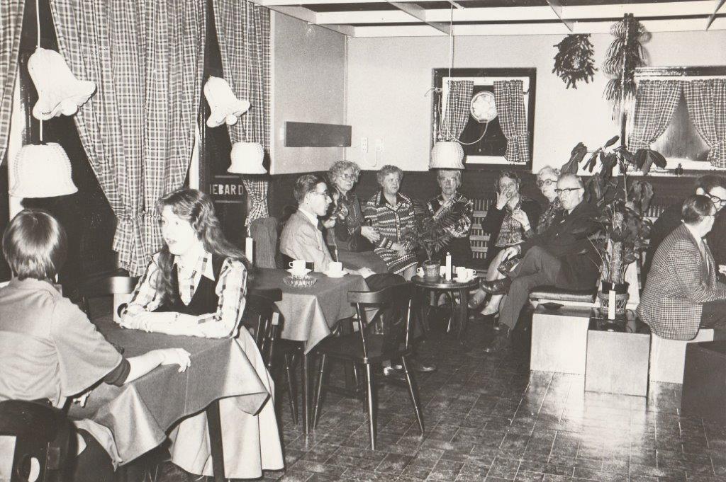 Koffiebar 'De Kluft', december 1977 aan de Pasteurstraat. (Foto: aangeleverd)