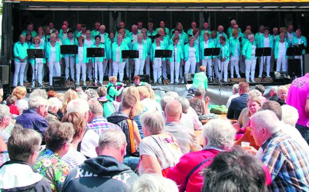 Ontroerend Goed koor tijdens het PleinFestijn 2017 in Wormerveer. (Foto: PleinFestijn)