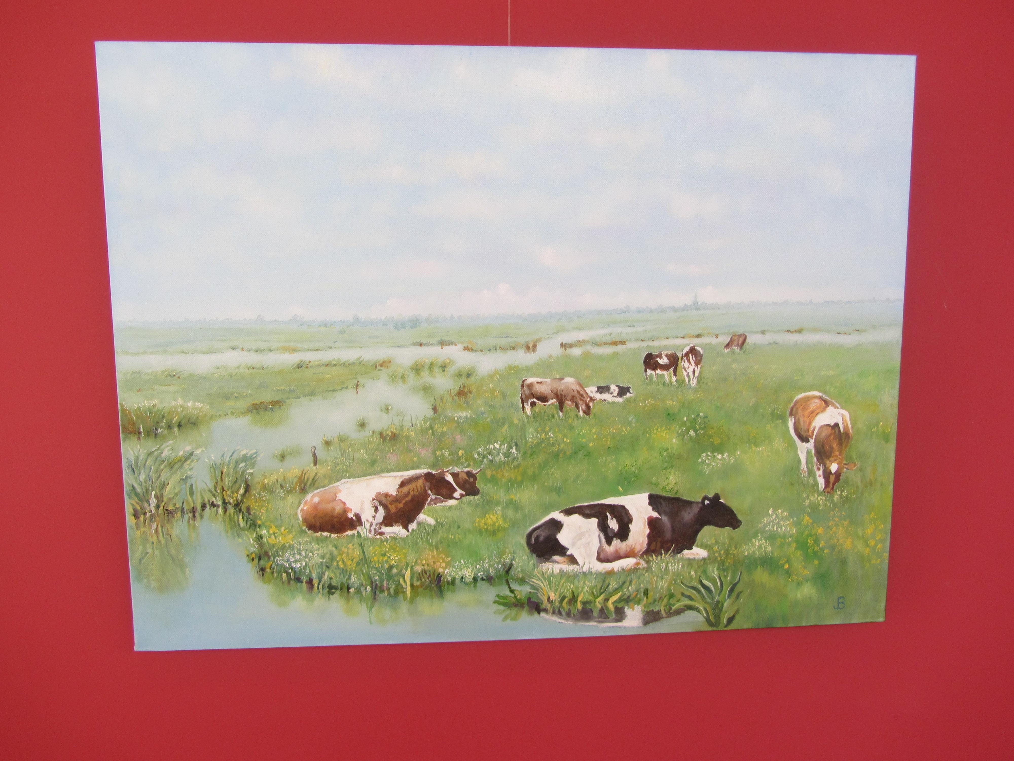 Jelle Bakker bij zijn bos. Koeien, de Ardeche en aquarellen van Jelle. (Foto's: JWvD) rodi.nl © rodi
