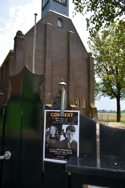 Aankondiging concert. (Foto: Yvette van der Does/RM)