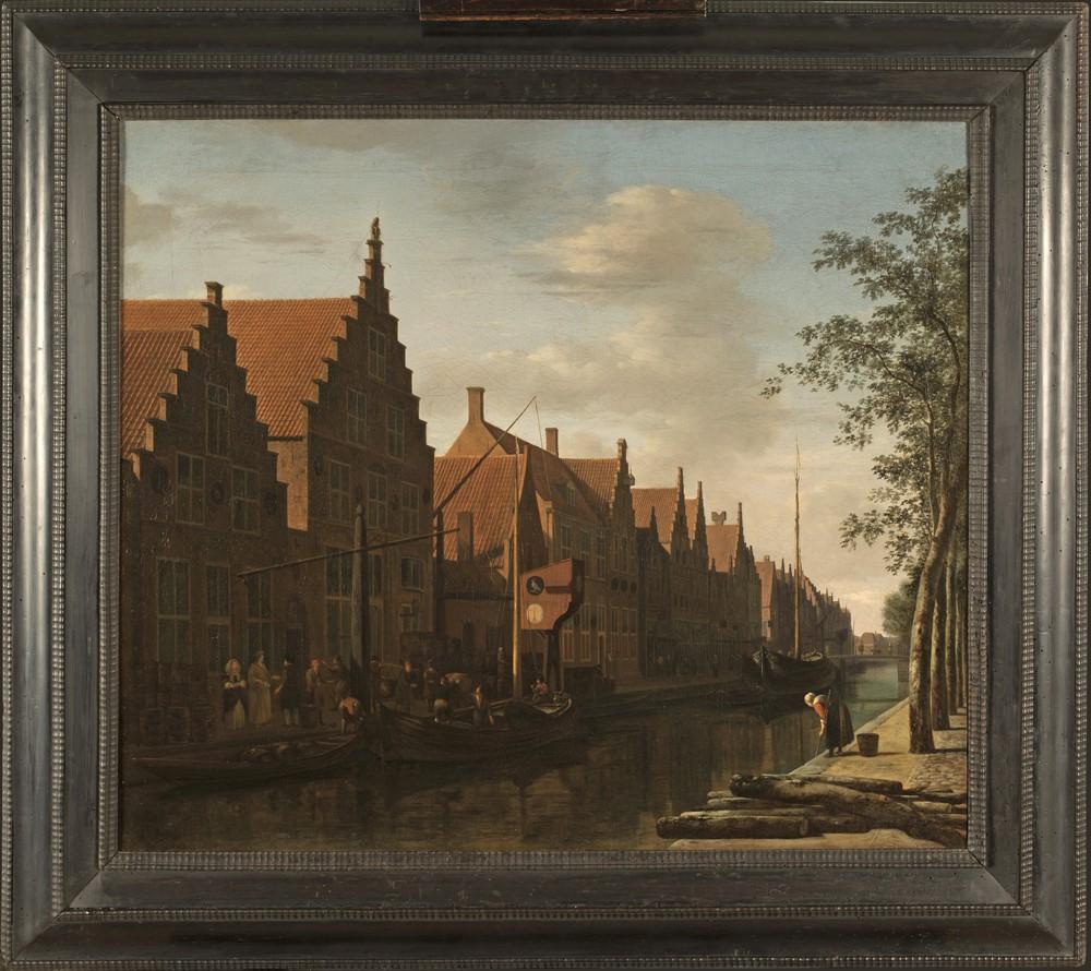 Gerrit Berckheyde: Gezicht op de Bakenessergracht met brouwerij de Passer en de Valk, 1662. (Foto: Ton van der Heide)