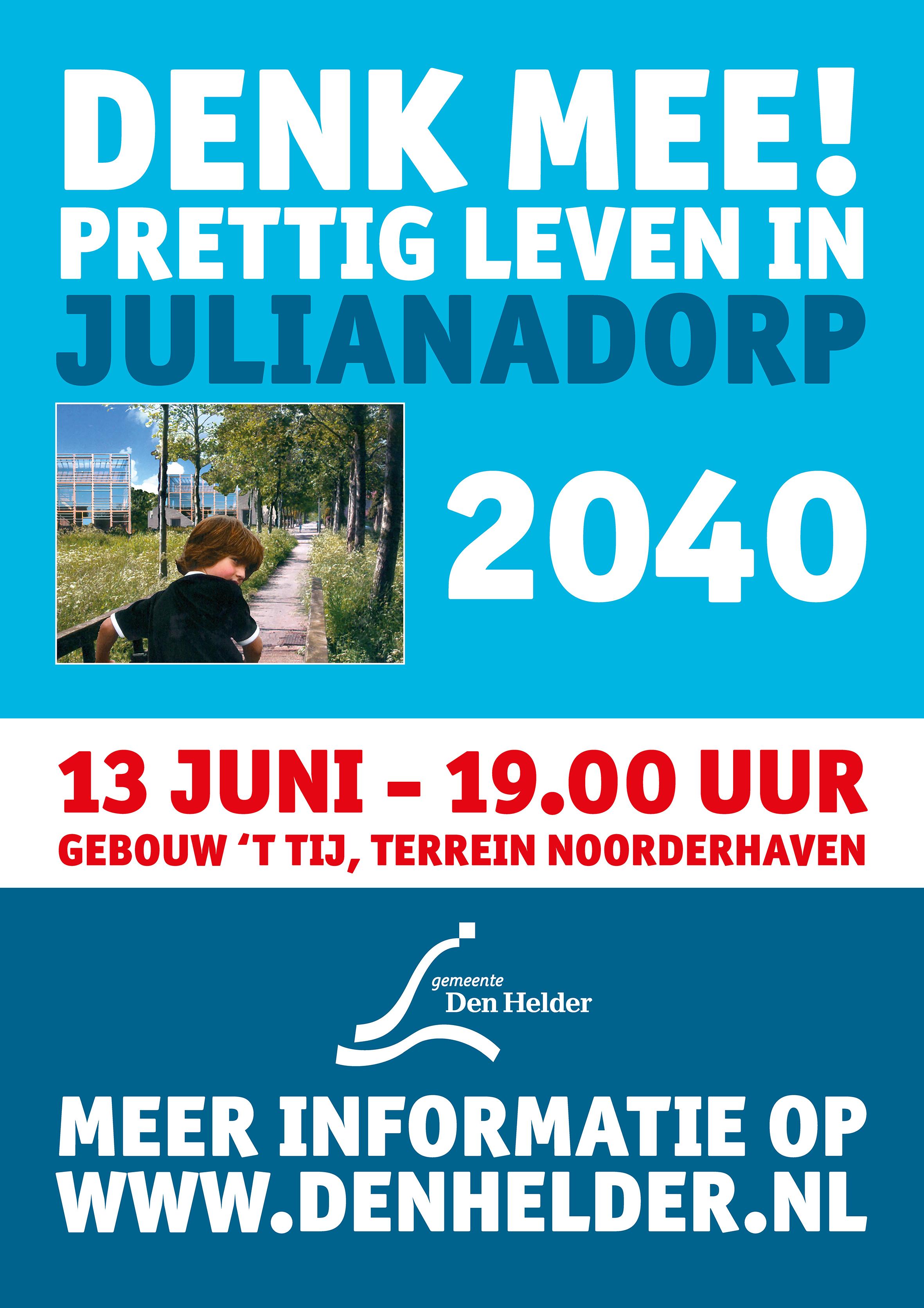 Hoe ziet prettig leven in Julianadorp er uit in 2040? Bijeenkomst op woensdag 13 juni. (Foto: aangeleverd).
