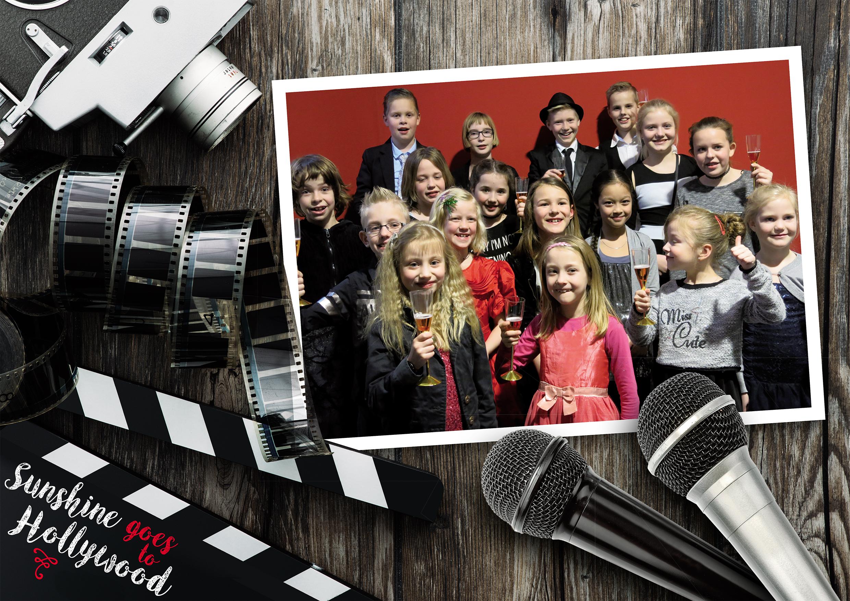 Kinderkoor Sunshine neemt bezoekers mee naar de wereld van de film, glitter & glamour, camera's en rode lopers. (Foto: aangeleverd)