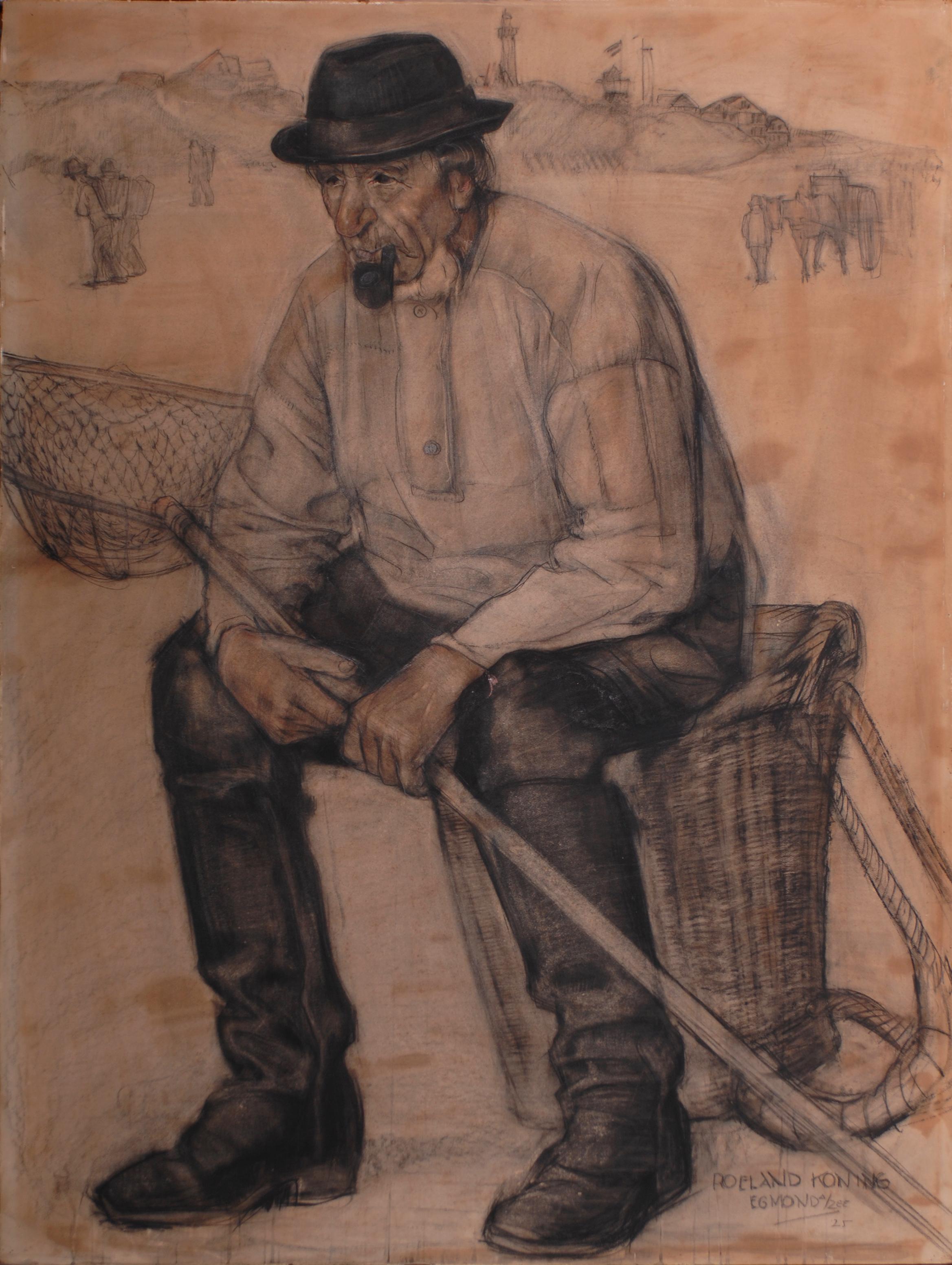 'Naar het strand' 1924. Roeland Koning: olieverf 48,3  x  64 cm. Eigenaar onbekend ( Foto Simonis & Buunk, Ede).