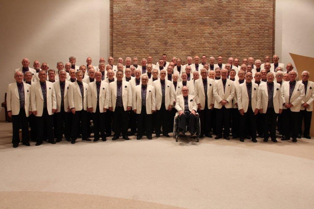 Het Zaans Interkerkelijk Mannenkoor. (Foto: Zaans Interkerkelijk Mannenkoor)