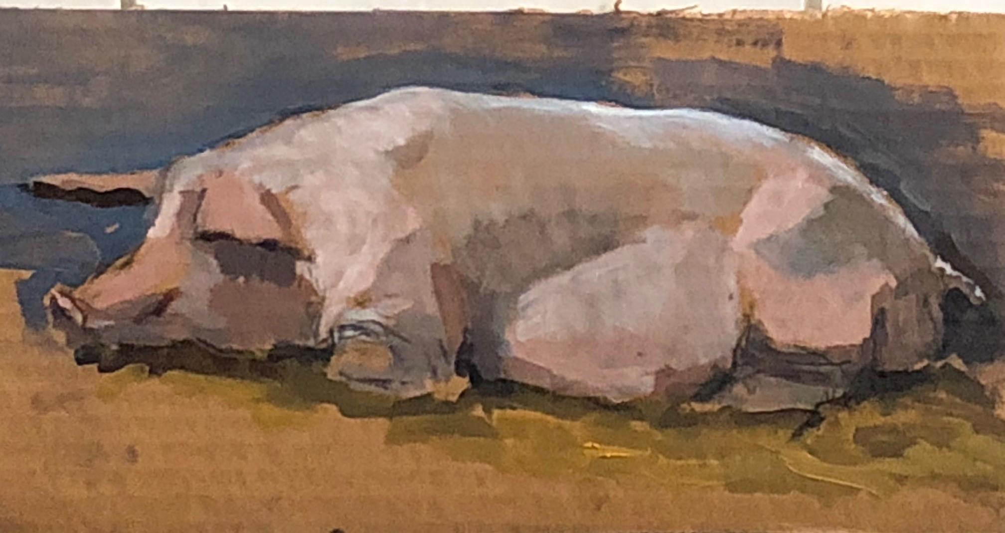 Ruud Spil is bekend van zijn schilderijen van koeien. (Foto: aangeleverd) rodi.nl © rodi