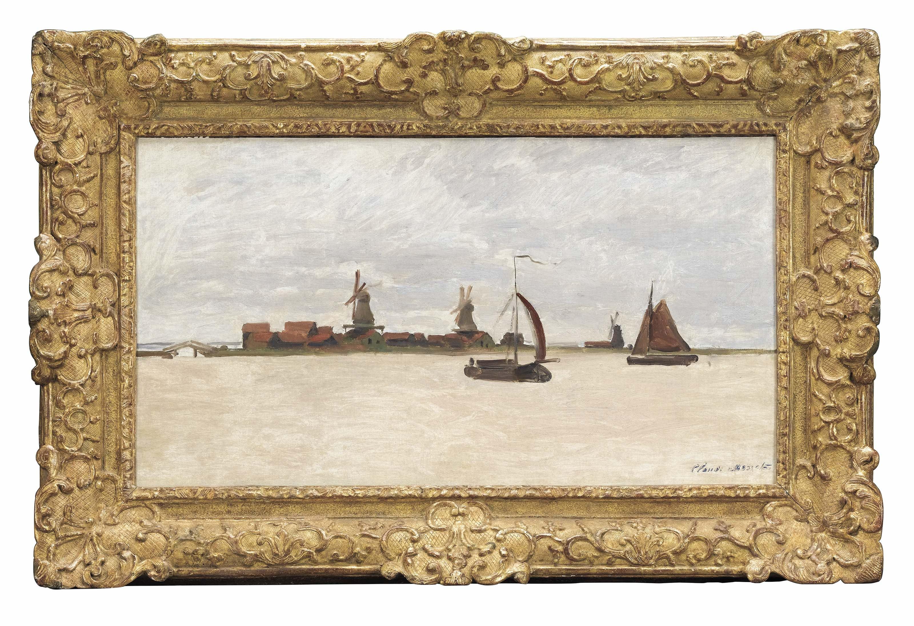De Voorzaan en de Westerhem 1871, Werk van Claude Monet uit de collectie van het Zaans Museum. (Foto: Gemeente Zaanstad)