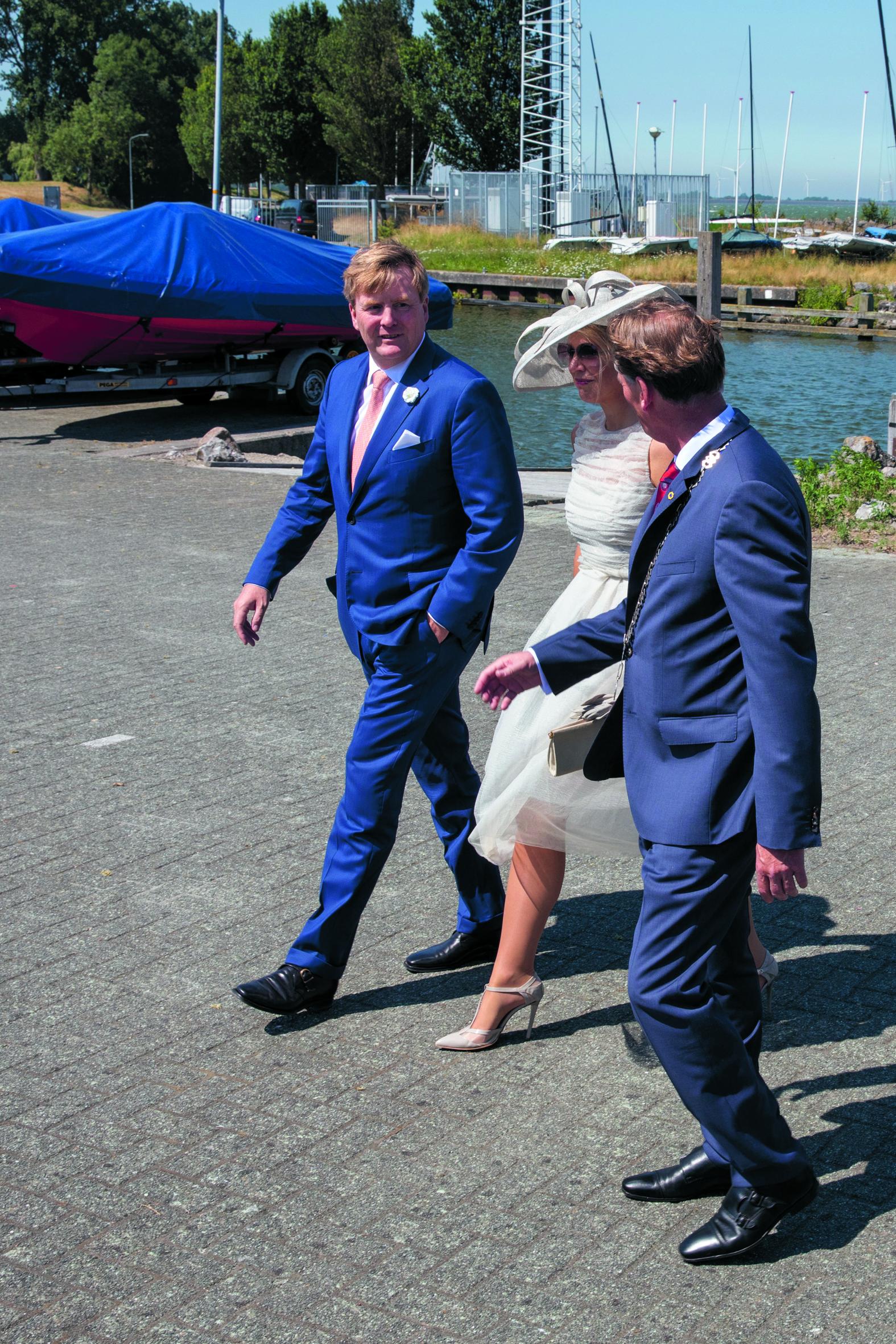 Het Koninklijk Paar op bezoek in Medemblik. (Foto's: Vincent de Vries / Rodi Media) rodi.nl © rodi