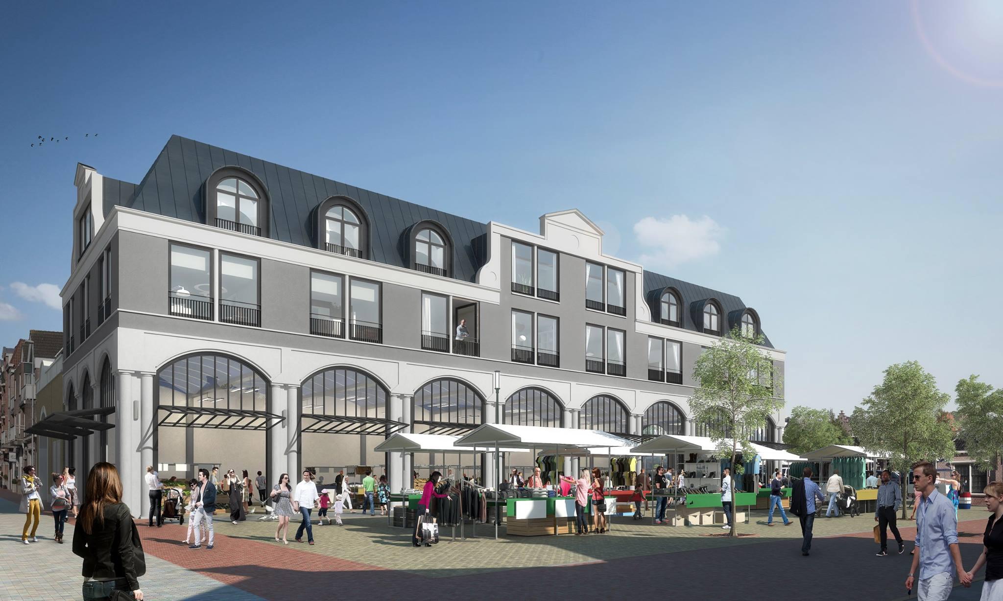 Artist impression van de Markthal, die straks de Koemarkt nog meer aanzien zal geven. (Foto: aangeleverd)