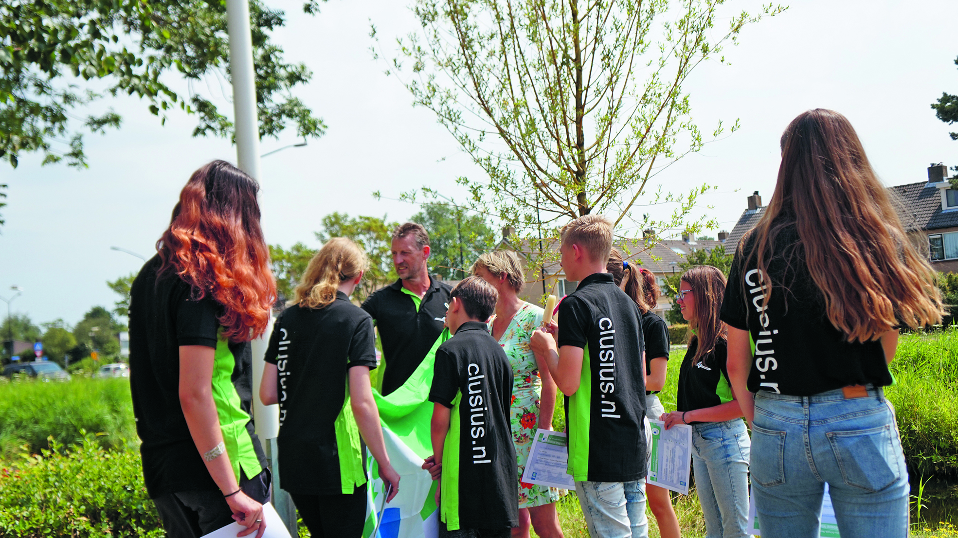 Leerlingen van het Clusius Heerhugowaard hijsen derde Groene Vlag in top. (aangeleverde foto)