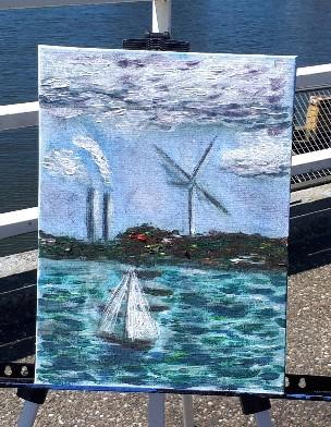 Het winnende werk van Larisa Bilous. (Foto: Monet op de Zaan) rodi.nl © rodi