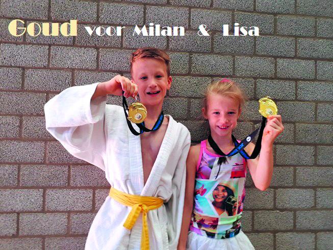 Milan en Lisa Borst behaalde beide goud tijdens het judotoernooi in Capelle a/d IJssel. (Foto: aangeleverd)