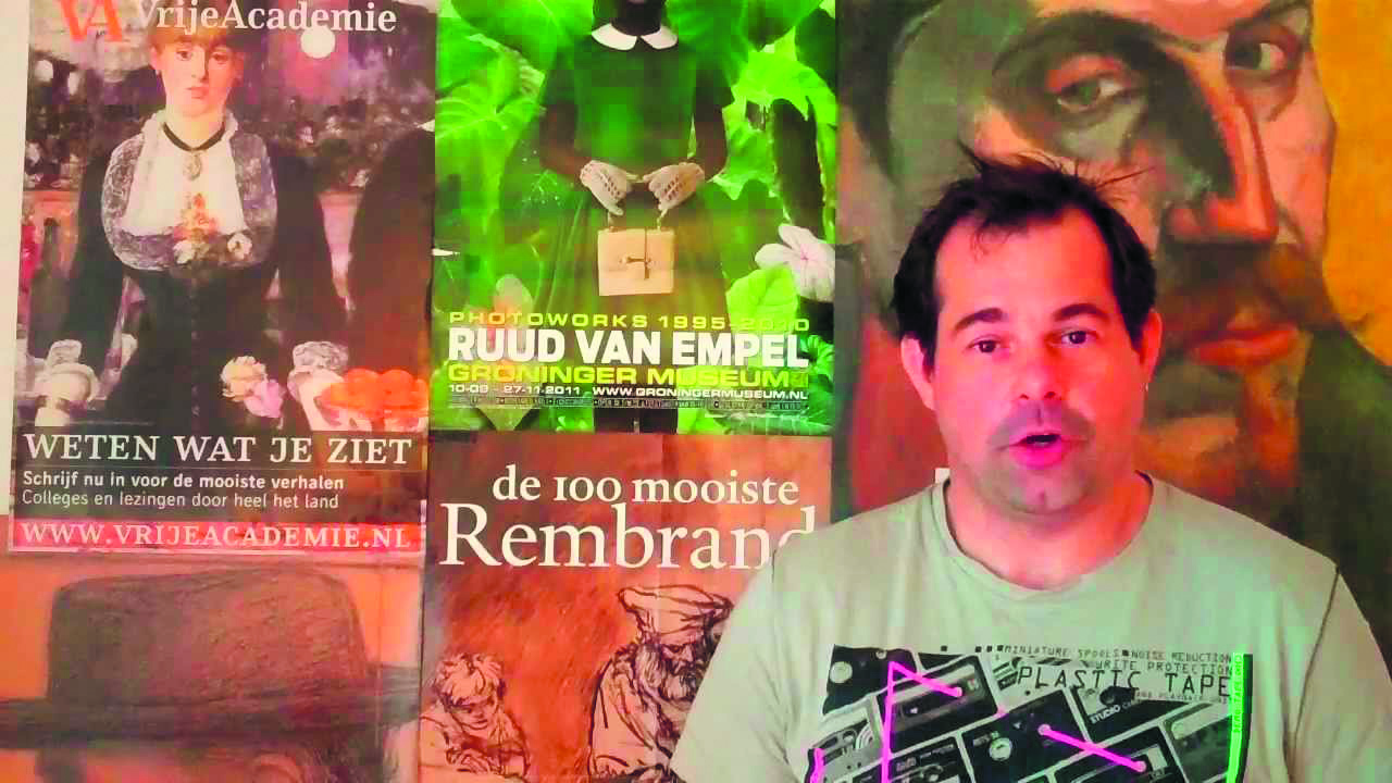 Martijn Pieters komt voor drie kunstlezingen naar De Brink. (aangeleverde foto)