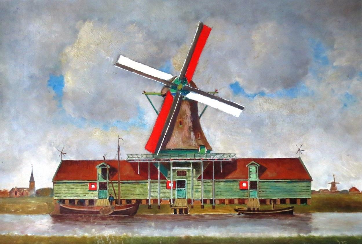 Pelmolen De Houtsnip in het Kalf. (Foto: Molenmuseum)