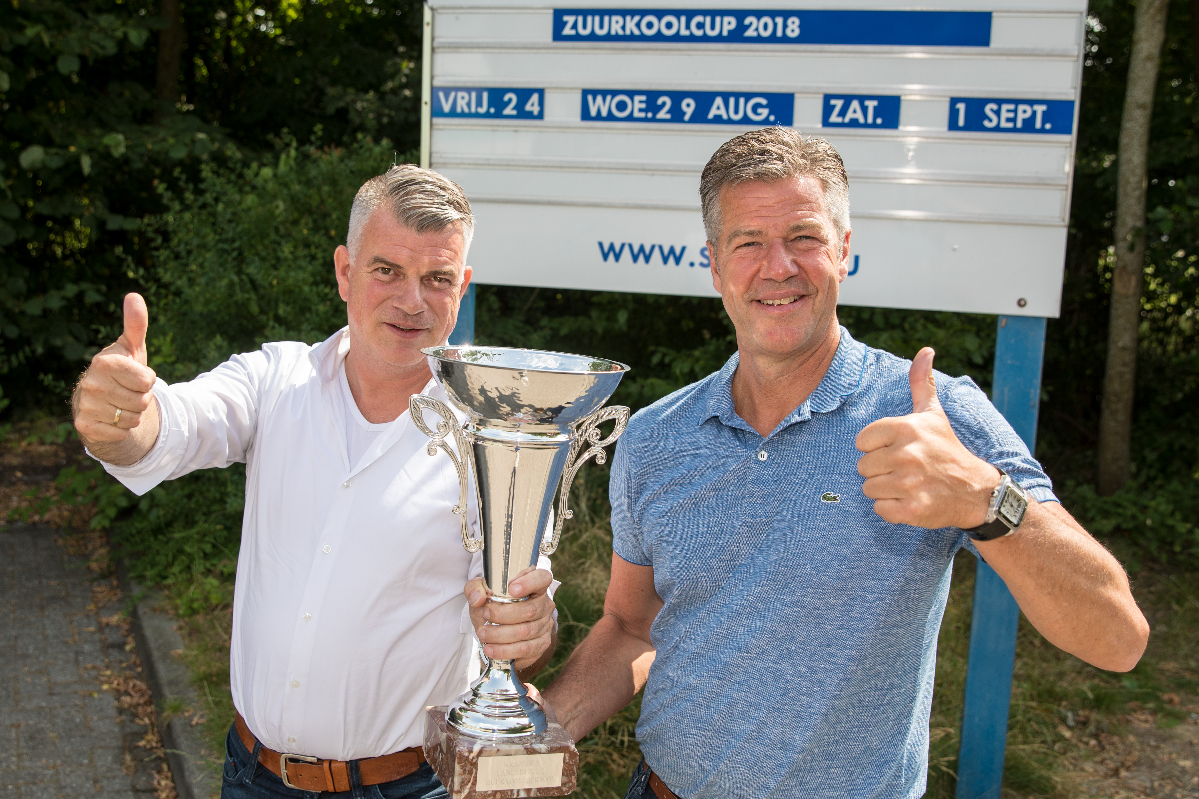 """Rick Tauber (l) en Kees Feller: """"Omdat dit sportieve evenement altijd zo'n succes is, geeft het voldoening het te mogen organiseren."""" (Foto's Vincent de Vries/RM) rodi.nl © rodi"""