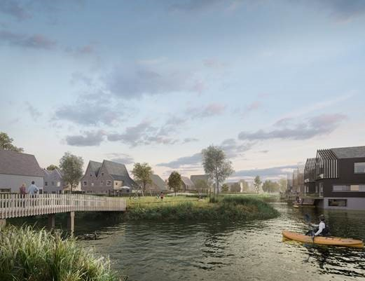 Artist impression van plan 'Eilanden van Hain'. (Foto: AM communicatie)