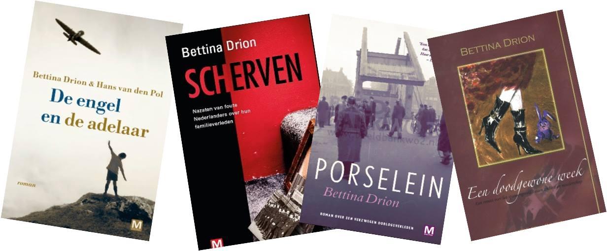 Boeken van Betina Drion docent aan de Volksuniversiteit Zaanstreek. (Foto: Bettina Drion)