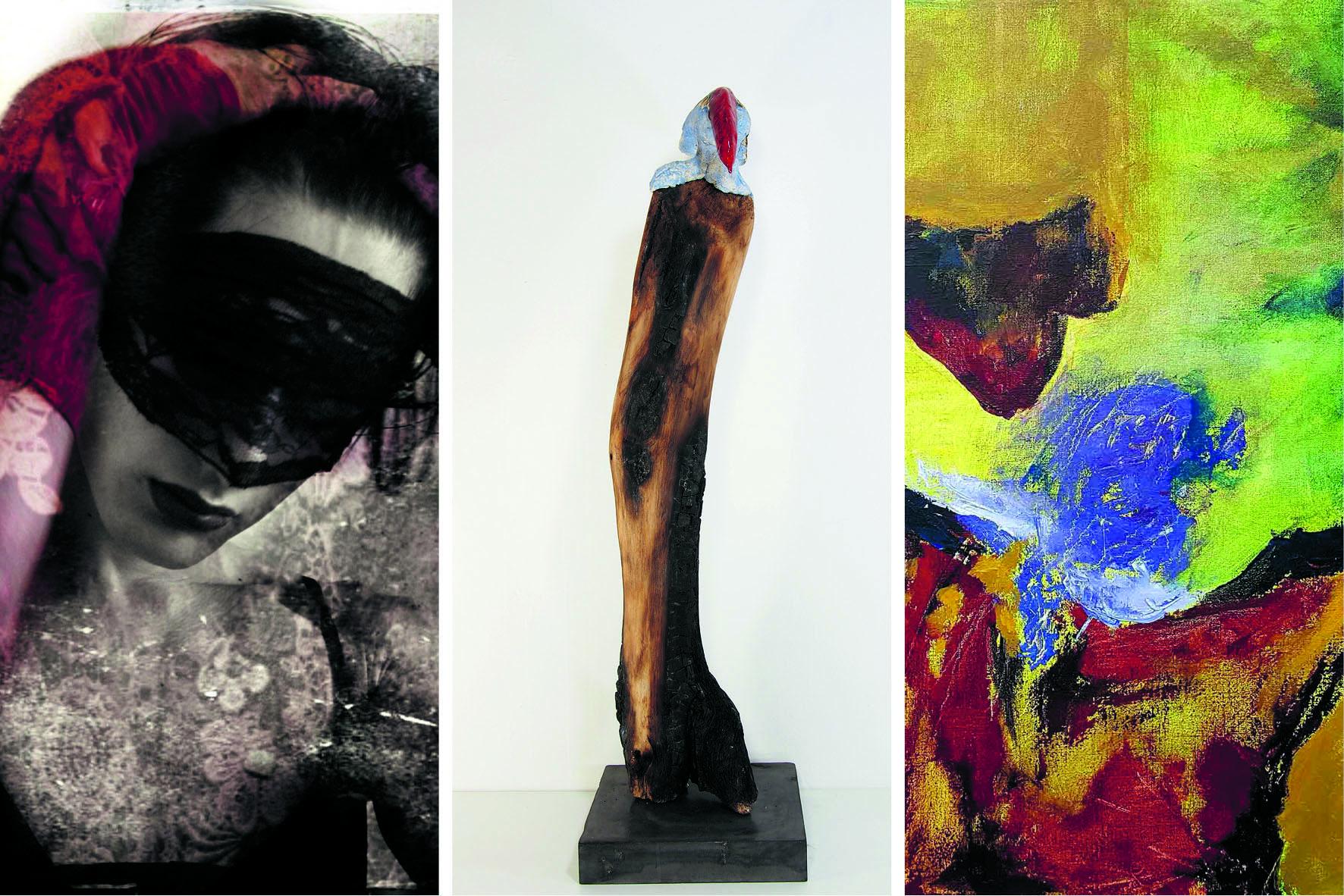 Impressie van de expositie 'Of je het ziet...' (Foto: Het Weefhuis)