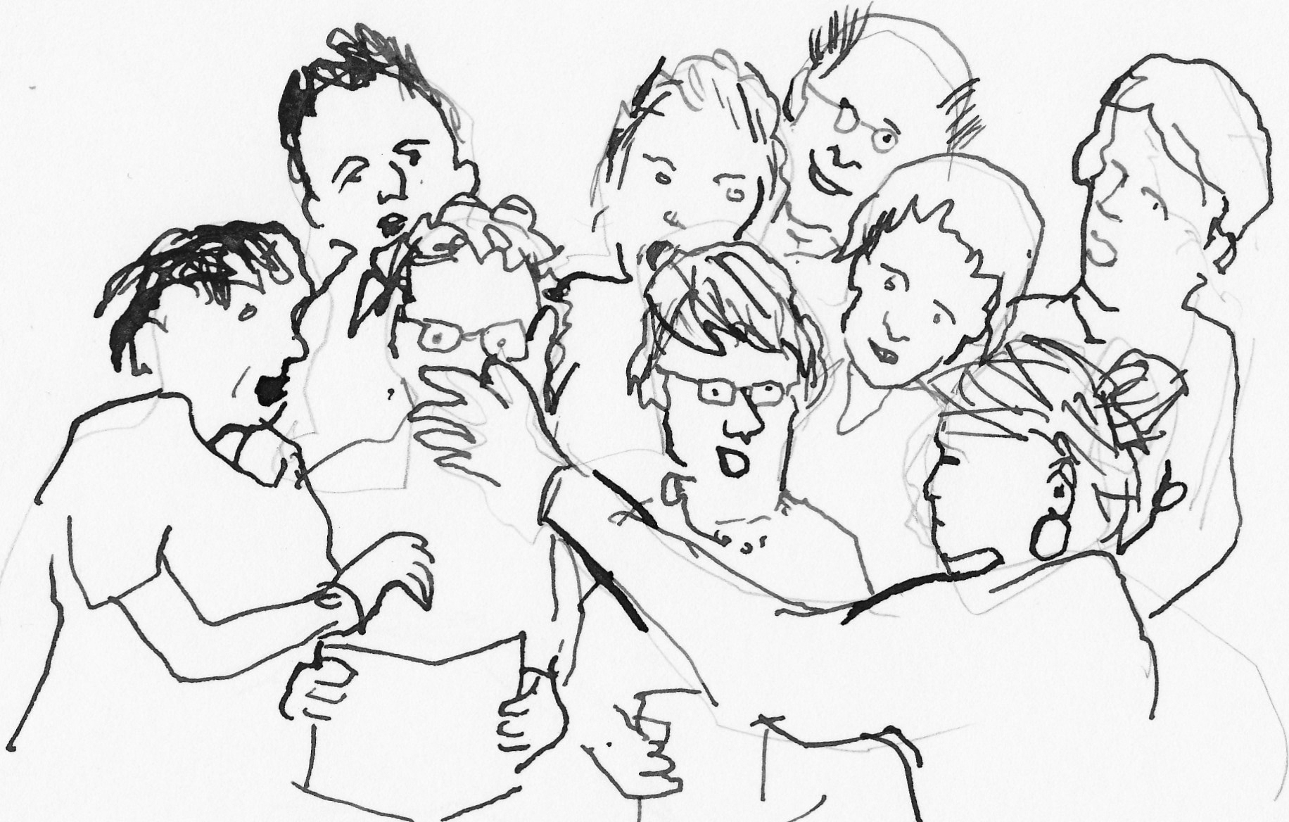 Een tekening van Seniorenkoor Castricum. (foto aangeleverd).