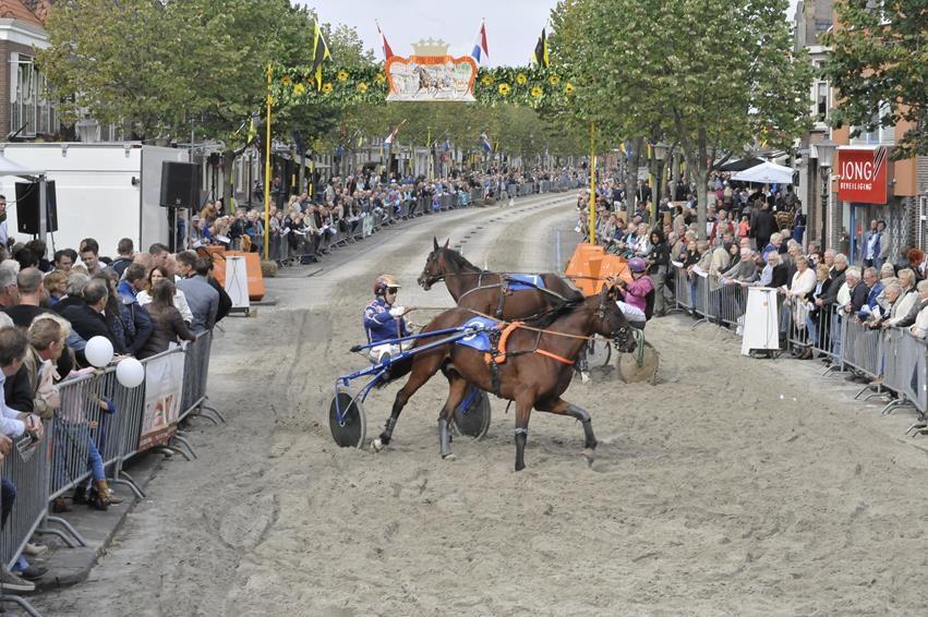 Bezoekers van de harddraverij in Medemblik volgen de hele koers live en op scherm. (Foto: aangeleverd) rodi.nl © rodi