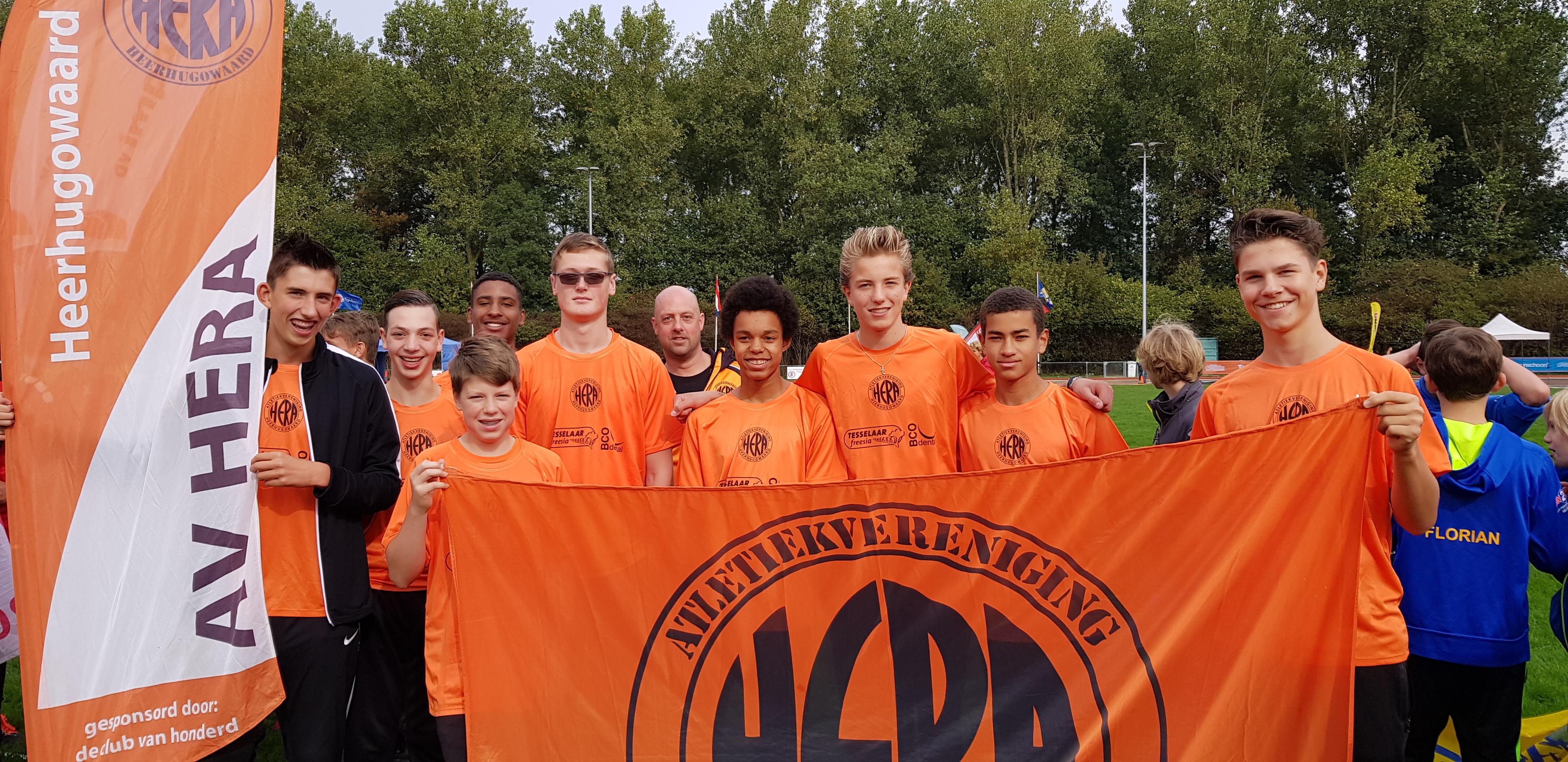 Het jongens C-team van AV Hera werd derde in landelijke finale. (aangeleverde foto)