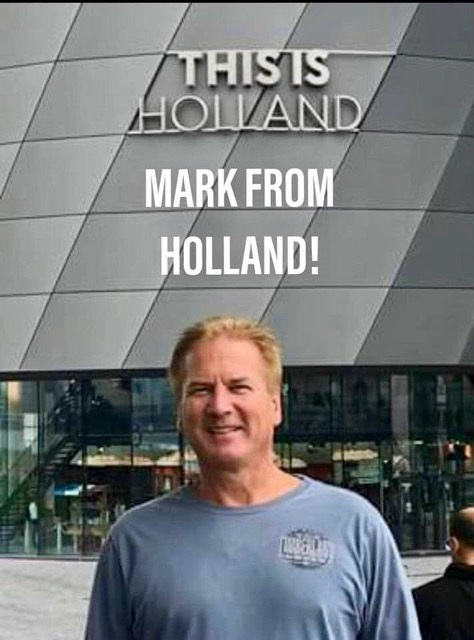 Presentator Mark Deren, beter bekend als 'Mark from Holland'. (Foto: Patricia van de Reep)