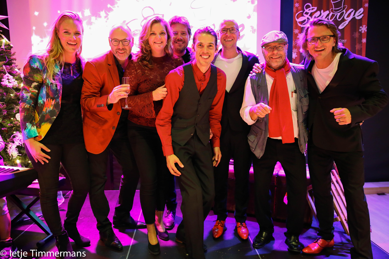 Het artistiek team van Superstar: Sophie van Hecke, Ruud Luttikhuizen, Majella van Ispelen, Gert Jan van der Kamp, Jerry Bloem, Maarten Elout, Olaf van Rijn en Oscar Koch. (Foto: Ietje Timmermans)