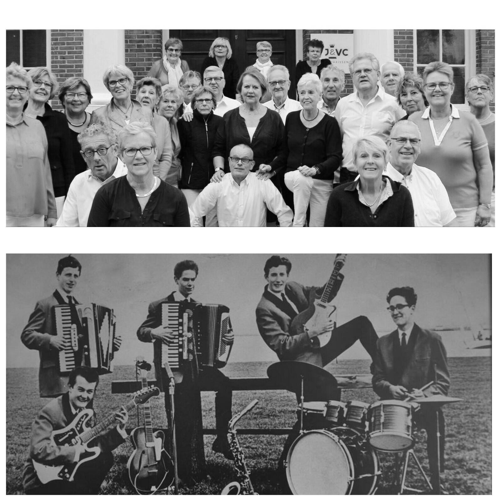 Het koor Dolorosa en de band De Tophitters. (Foto: Aangeleverd)