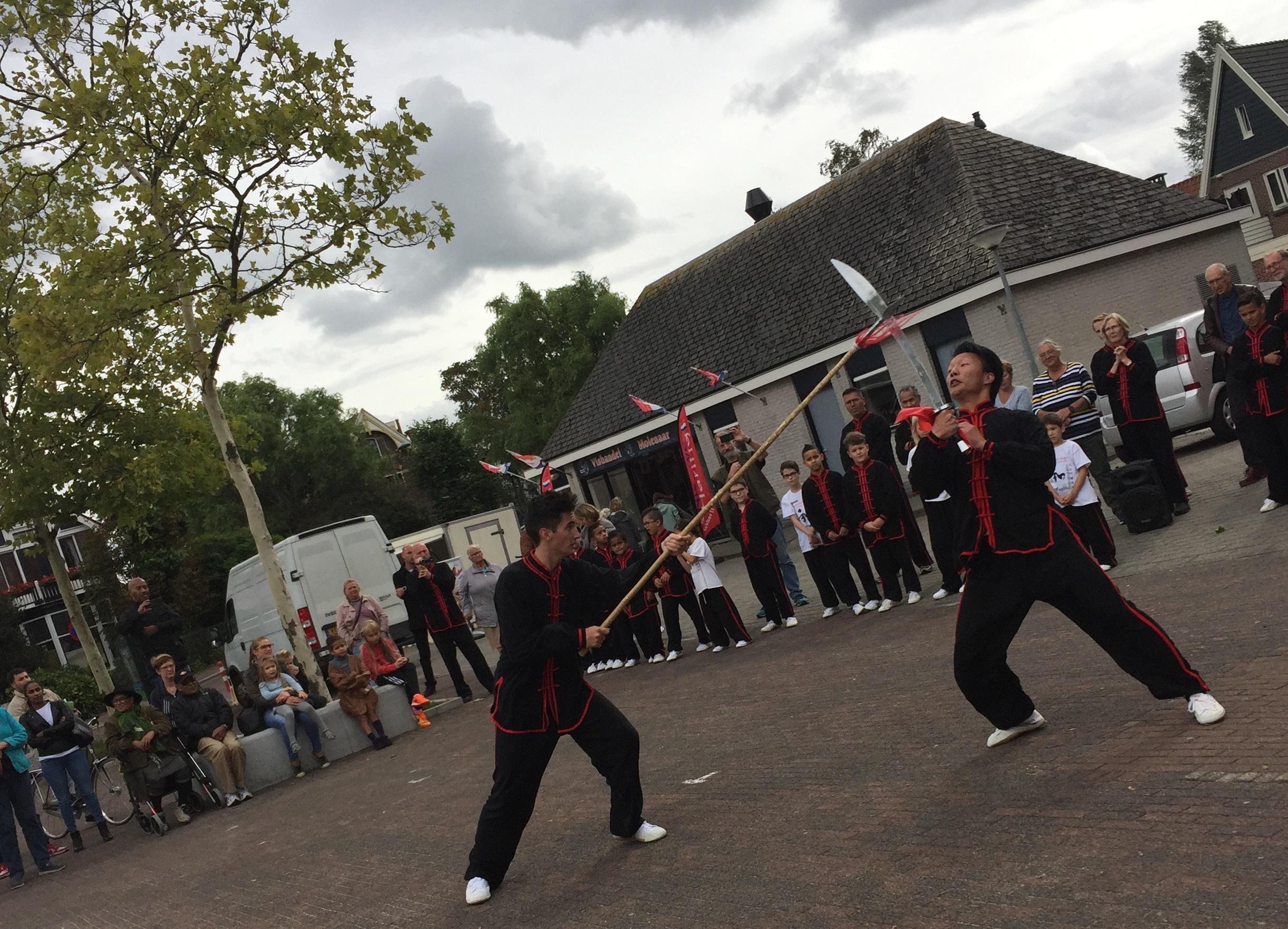Kung fu-school Xin Yi gaf een demonstratie. (Foto: Kung fu-school Xin Yi)