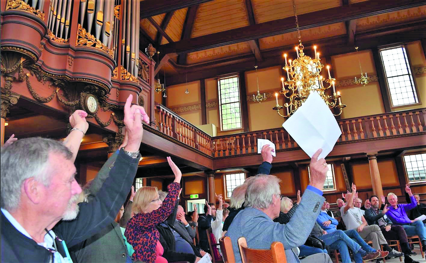 Interactief publiek bij het symposium. (Foto: PvdA Zaanstreek)