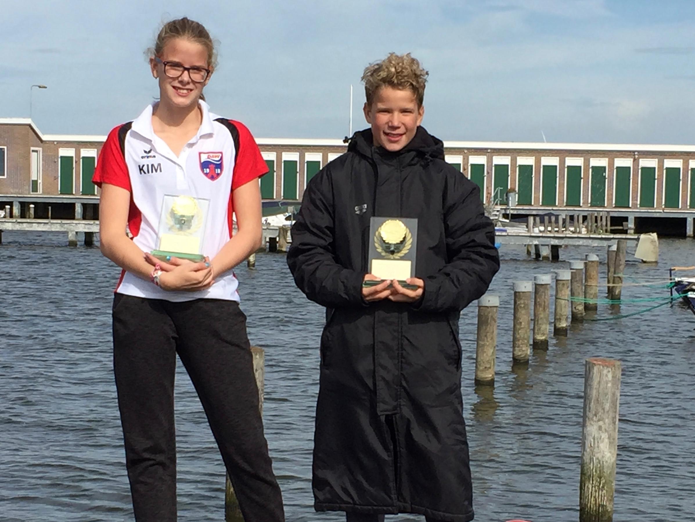 Kim Oudendijk en Feico de Jonge. (Foto: Aangeleverd)
